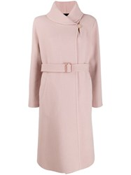 Giorgio Armani Belted Trench Coat Pink