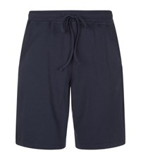 Hanro French Terry Shorts Male Navy