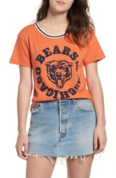 Junk Food Nfl Bears Kick Off Tee Orange New Navy