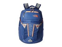 The North Face Women's Recon Coastal Fjord Blue Feather Orange Backpack Bags