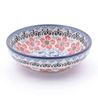 Bunzlau Castle Serving Bowl Red Violets Small