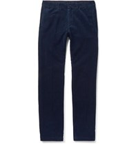 Massimo Alba Navy Cotton Corduroy Trousers Navy
