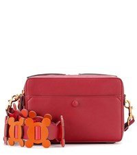 Anya Hindmarch The Stack Leather Crossbody Red