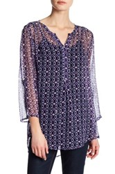 Casual Studio Printed Easy Blouse Purple