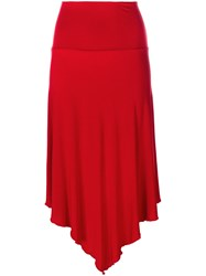 Jean Paul Gaultier Vintage Asymmetric Skirt Red