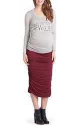 Lilac Clothing Women's Frenchie Mom To Be Maternity Tee Grey