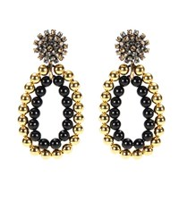 Marni Embellished Clip On Earrings Gold