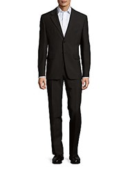 Valentino Classic Fit Mohair Blend Wool Suit Black