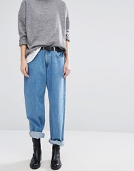 Dr. Denim Dr Muse Low Rise Wide 90'S Style Straight Jean Light Retro Blue