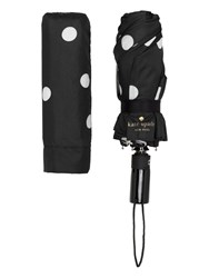 Kate Spade Black And Cream Deco Dot Travel Umbrella