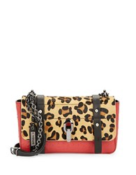Via Spiga Sasha Calf Hair Accented Leather Crossbody Leopard