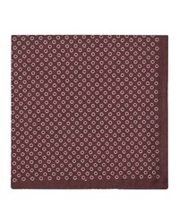 Reiss Nellie Silk Pocket Square In Red Mens