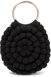 Ulla Johnson Lia Crocheted Cotton Tote Black