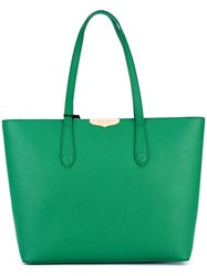Twin Set Logo Plaque Tote Green