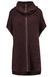 Object Objmoto Cardigan Coffee Bean Dark Brown