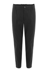 Vince Relaxed Pants With Linen Black