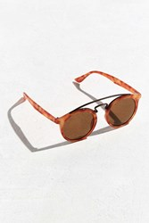 Urban Outfitters Brow Bar Round Sunglasses Brown