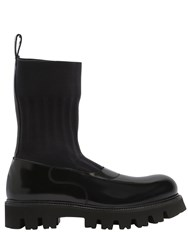 Rocco P. 30Mm Elastic And Brushed Leather Boots