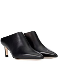 Stuart Weitzman Mira Leather Mules Black