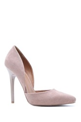 Qupid Rand High Heel D'orsay Pump Brown