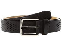 Cole Haan Washington Grand 32Mm Laser Perf Belt Black Men's Belts