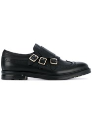 Alexander Mcqueen Three Strap Monk Shoes Men Calf Leather Leather Rubber 41 Black