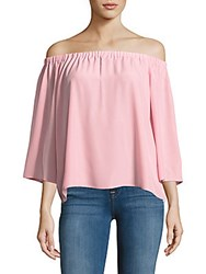 Amanda Uprichard Nirvana Solid Off The Shoulder Top Dusty Rose