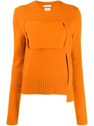 Bottega Veneta Interwoven Jumper Orange