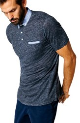 Good Man Brand Slim Fit Polo Navy Heather