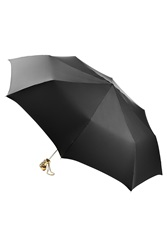 Alexander Mcqueen Umbrella With Skull Handle Black