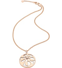 Bulgari Mediterranean Eden 18Ct Pink Gold Necklace With Mother Of Pearl And Pave Diamonds