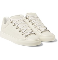 Balenciaga Arena Creased Leather Low Top Sneakers