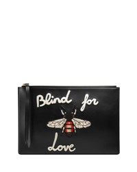 Gucci Blind For Love Leather Pouch Black