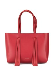 Mansur Gavriel Adjustable Handle Tote Bag Red