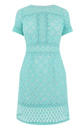 Oasis Isla Lace Shift Dress Dark Blue