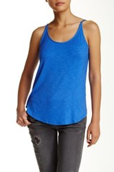 Dex Slub Knit Scoop Neck Tank Blue