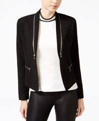 Xoxo Juniors' Zipper Trim Jacket Black