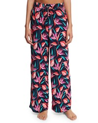 Tommy Bahama Floral Print Wide Leg Beach Pants Mare Ground Multi