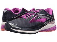 Brooks Ravenna 8 Peacoat Purple Cactus Flower Fusion Coral Women's Running Shoes Black