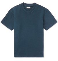 Fanmail Loopback Organic Cotton Jersey T Shirt Navy