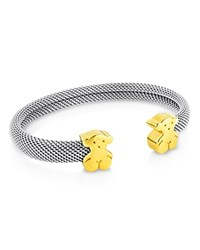 Tous Bear Mesh Bangle Silver
