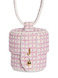 Jacquemus Le Micro Vanity Printed Leather Bag Pink