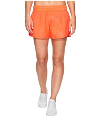 2Xu X Vent 4 Shorts W Brief Fiery Coral Prism Emboss Colony Blue Women's Shorts Orange