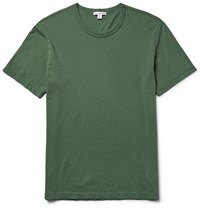 James Perse Combed Cotton Jersey T Shirt Forest Green