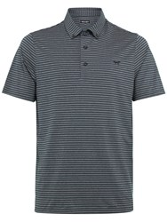 Wolsey Men's Slim Stripe Polo Navy