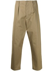 Valentino Cargo Pleated Trousers Neutrals