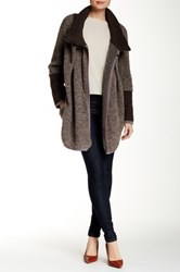 Luma Wool Blend Sweater Coat Beige