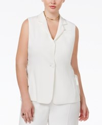 Rachel Rachel Roy Curvy Plus Size Lace Up Vest White