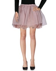 Olympia Le Tan Knee Length Skirts Pastel Pink