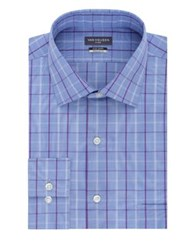 Van Heusen Plaid Cotton Dress Shirt Water Mill